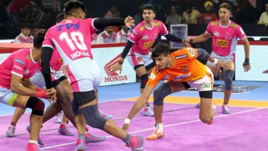 Jaipur Pink Panther vs Telugu Titans PKL 2019 Match Free Live Streaming and Telecast Details: JAI vs HYD, VIVO Pro Kabaddi League Season 7 Clash Online on Hotstar and Star Sports