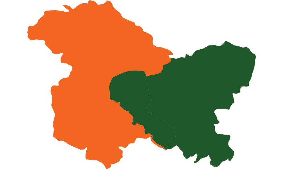 Jammu And Kashmir, Ladakh Become India's Two New Union Territories Following Abrogation of Article 370; Here's How New Map of Former State Will Look After Bifurcation
