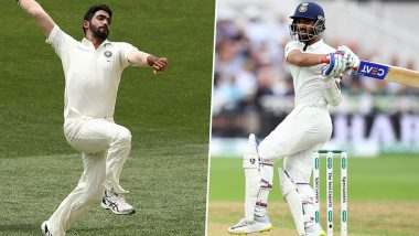 ICC Test Rankings: Jasprit Bumrah Storms Into Top Ten Bowlers, Ajinkya Rahane Jumps to 10th Spot After India's Victory Against West Indies