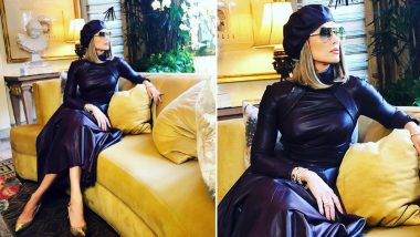 Yo or Hell No! Jennifer Lopez in Leather Dress and Beret by Zimmermann