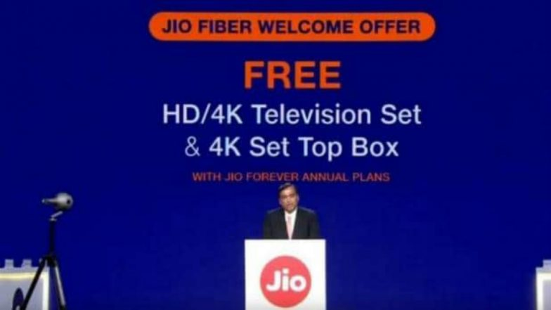 Reliance Jio Fiber Customers to Get Free HD and 4K LED TV as Launch Offer, Announces Mukesh Ambani