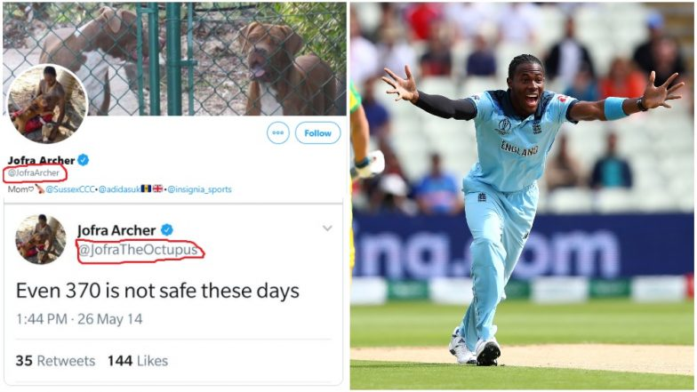 Jofra Archer's Prophetic Tweet on Article 370 Is Fake; Don't Fall for English Bowler's Morphed Post Going Viral