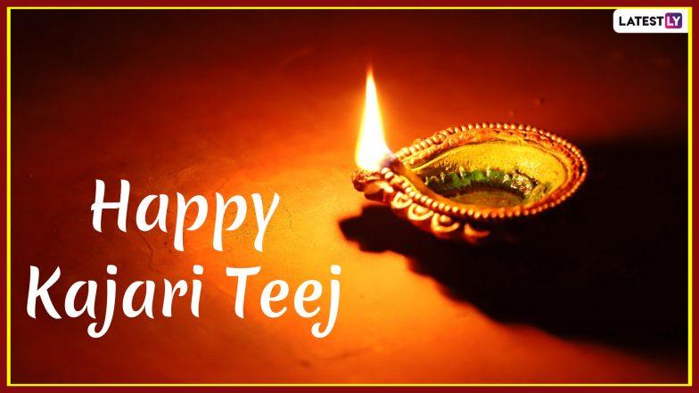 Happy Kajari Teej 2019 Messages in Hindi: WhatsApp Stickers, Teej Images, Wishes SMS, Greetings to Send on Badi Teej