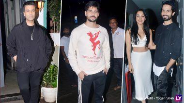 Kiara Advani Birthday Bash Pics: Shahid Kapoor, Sidharth Malhotra, Karan Johar and Others Attend the Celebration