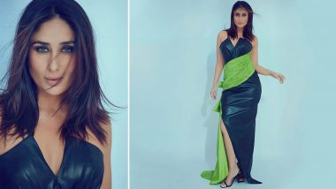 Yo Or Hell No! Kareena Kapoor Khan in an Off-Shoulder Ziad Germanos Leather Gown