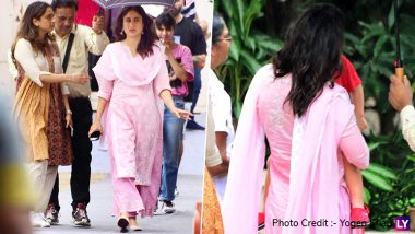 But First Taimur! Kareena Kapoor Khan Takes Time Out for her Little Boy Amid her Shoot (View Pics)