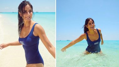 Katrina Kaif Looks SIMPLY SEXY in a Blue Swimsuit From Her Beach Vacay (View Pics)