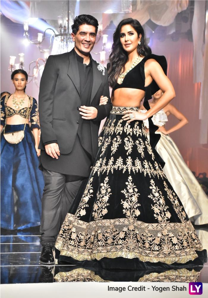 Katrina Kaif and Manish Malhotra at the opening show of LFW 2019.