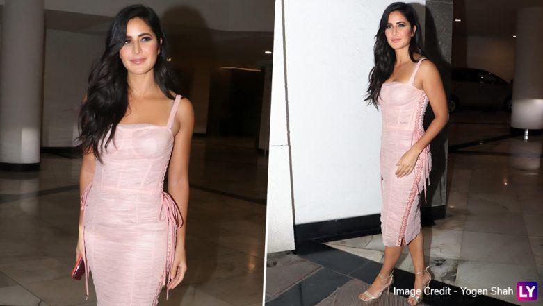 Yo or Hell No! Katrina Kaif in a Pink Dolce & Gabbana Corset Dress at Manish Malhotra's LFW 2019 After-Party