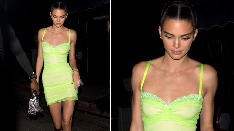 Yo or Hell No! Kendall Jenner Picks Lime Bodycon for Night Out With Khloe Kardashian