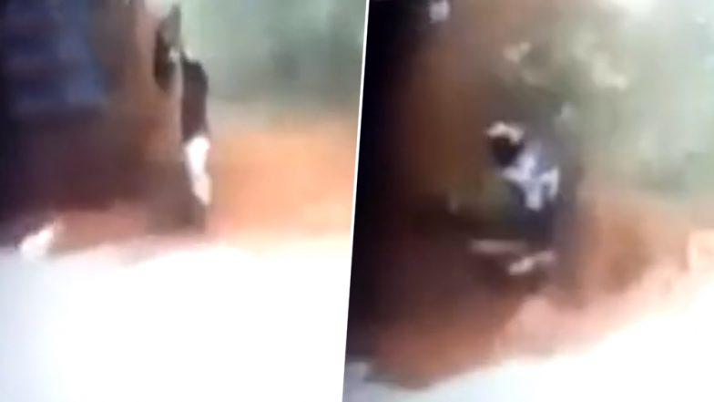 Kerala Flood: CCTV Video Shows Man Narrowly Escaping Mudslide in Malappuram