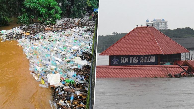 Kerala Floods: Pic of Road Covered in Plastic Waste in Palakkad Goes Viral, Twitter Calls it 'Return Gift' of Nature