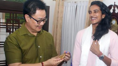PV Sindhu Meets Sports Minister Kiren Rijiju After Triumph in BWF World Championships 2019
