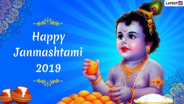 Krishna Janmashtami 2019 Images & HD Wallpapers Free Download Online: WhatsApp Messages in Hindi, Ladoo Gopal Stickers, Photos, SMS, Kanha Quotes and Greetings to Wish This Gokulashtami