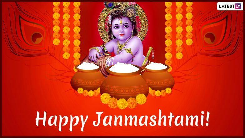 Janmashtami 2019 Wishes Images: WhatsApp Stickers, Laddu Gopal Photos, SMS, GIFs, Greetings to Celebrate The Birth of Lord Krishna
