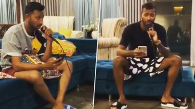 Hardik and Krunal Pandya Sing 'Why This Kolaveri Di' Song; This Video Will Make You a Fan of Pandya Brothers!