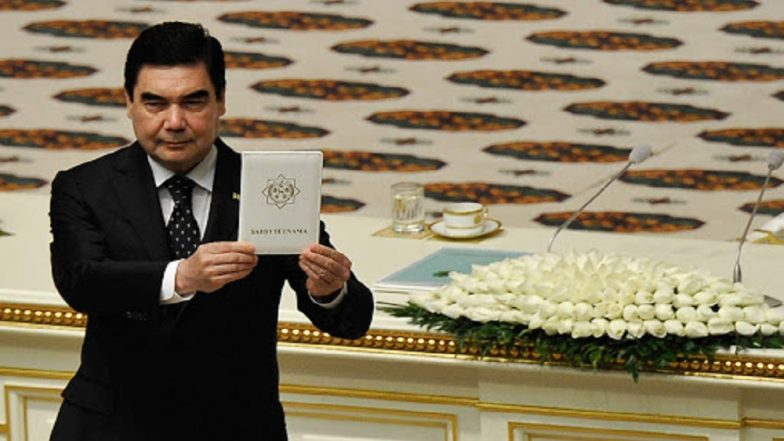 Turkmenistan President Kurbanguly Berdymukhamedov Dispels Death Rumors, Drives Rally Car Around Gas Crater 'Gates of Hell'; Watch Video