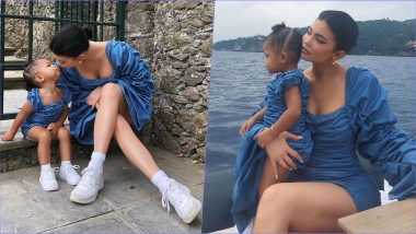 Kylie Jenner Twins With Daughter Stormi Webster On Their Italy Vacay! (See Pictures)