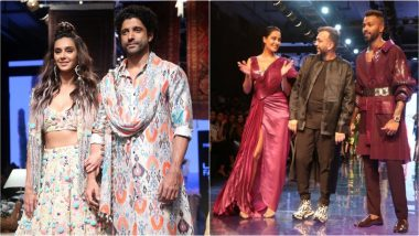 LFW 2019 Day 1: Farhan Akhtar, Shibani Dandekar, Hardik Pandya and Lisa Haydon Shine for Newbie and Veteran Designers' Winter/Festive Collection