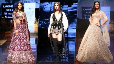 LFW 2019 Photos: Tara Sutaria, Diana Penty, Pooja Hegde Walk Ramp at Lakme Fashion Week Winter/Festive Show
