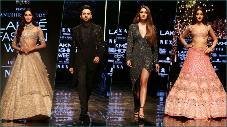 LFW 2019 Day 4 Photos: Ayushmann Khurrana, Disha Patani and Ananya Panday Make Lakme Fashion Week Winter/Festive Edition High on Bollywood Quotient