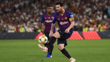 Lionel Messi Goes Past Cristiano Ronaldo With a Perfect Free Kick During Barcelona vs Valladolid, La Liga 2019-20 (Watch Video)