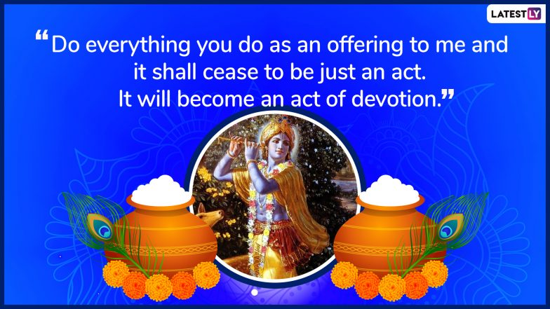 Janmashtami 2019: 10 Quotes & Timeless Lessons Given by Lord Krishna From the Bhagavad Gita