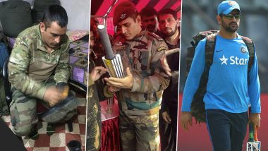 MS Dhoni Serves Indian Army in Kashmir: From Playing Volleyball to Polishing Shoes, Photos and Videos of Indian Cricketer That Went Viral