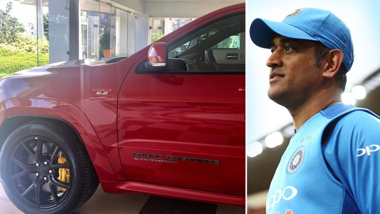 MS Dhoni Now Owns Jeep Grand Cherokee! Wife Sakshi Shares Glimpse of MSD's New Addition in Garage (View Car Pic)