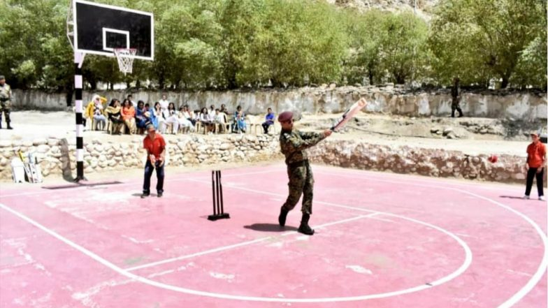 MS Dhoni Plays Cricket with Kids in Leh, Picture Goes Viral