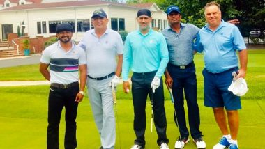 MS Dhoni Enjoys Golf With Kedar Jadhav on National Sports Day 2019 (View Picture)