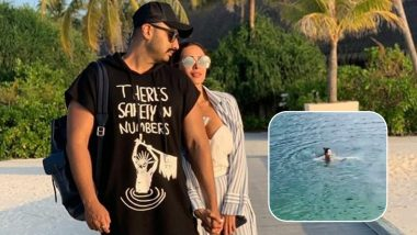 Arjun Kapoor Captures Malaika Arora Swimming in a Pink Monokini During Their Vacay Abroad (Watch Video)