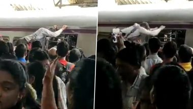 Man Almost Flies in the Air Trying to Get into Mumbai Local Train, Video Goes Viral
