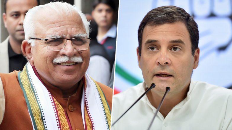 Rahul Gandhi Flays Manohar Lal Khattar For 'Bring Brides From Kashmir' Joke, Haryana CM Retorts