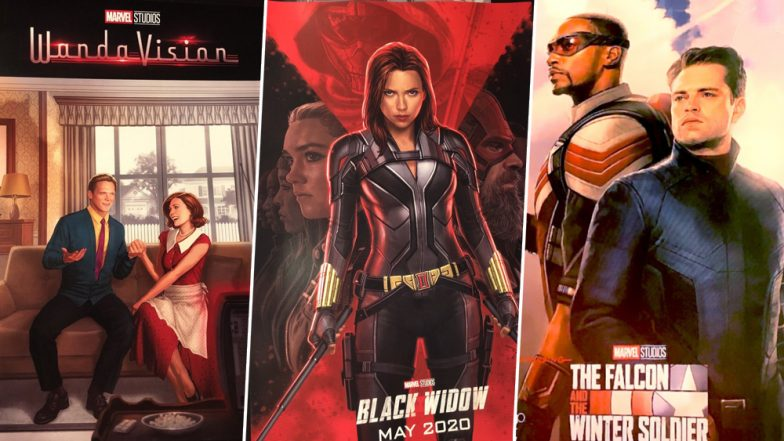Marvel Posters of Black Widow, Wanda Vision and The Falcon and the Winter Soldier Unveiled at D23
