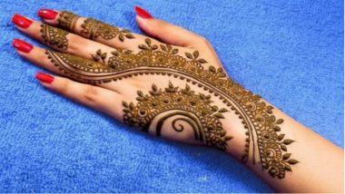 Hariyali Teej 2019 Latest Mehndi Designs: New and Easy Henna Mehandi Patterns With Pictures and Video Tutorials to Celebrate Hindu Festival