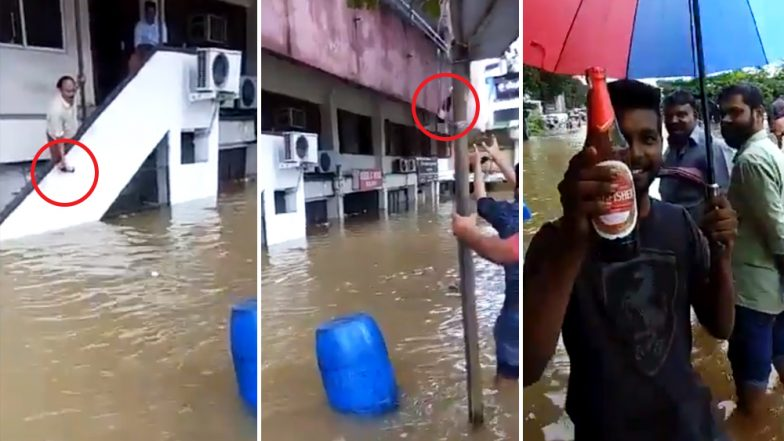 This Video of Men Passing a Beer Bottle Out of a Flooded Shop in Kerala Makes the Internet Talk About Malayali 'Spirit'