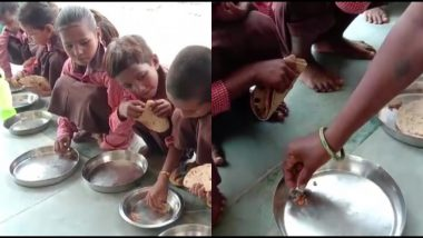 West Bengal: After Facing Ire For Serving Salt and Rice in Mid Day Meal, Govt to Now Serve Rice, Dal, Vegetable Curry and Fish to Students