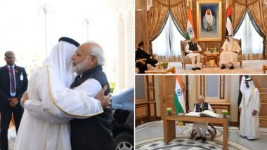 PM Narendra Modi Conferred with 'Order of Zayed' Before Ending UAE Visit, Departs For Bahrain