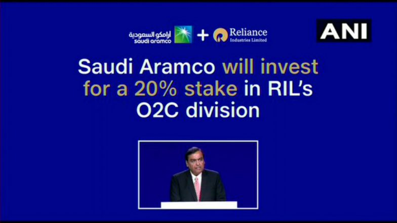 Reliance AGM 2019: Saudi Aramco to Take 20% in Reliance's Refinery