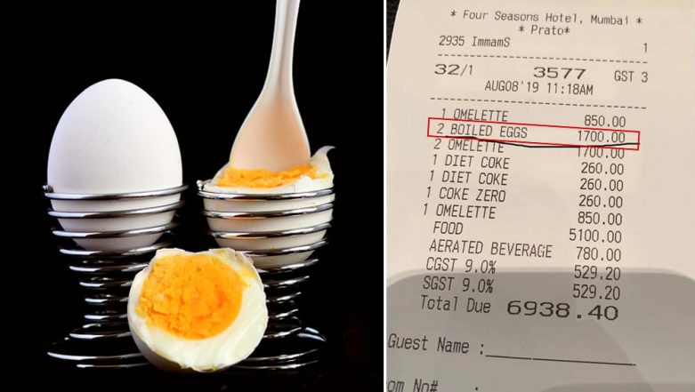 Mumbai's Four Seasons Hotel Charges Rs 1700 For 2 Boiled Eggs! Reminds Netizens of Rahul Bose's Banana Episode
