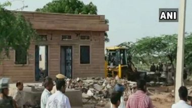 Rajasthan: Villagers Resort to Stone Pelting to Oppose Anti-Encroachment Drive in Nagaur, JCB Operator Killed