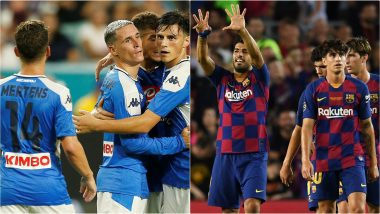 Napoli vs Barcelona Free Live Streaming Online and Match Time in IST: How to Get Live Telecast on TV & Football Score Updates of Club Friendlies Football Match in India?