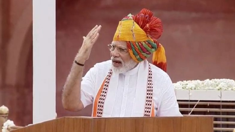 PM Narendra Modi Independence Day 2019 Address From Red Fort: Prime Minister Links Kashmir Move to Sardar Vallabhbhai Patel's Dream; Here Are Highlights of His August 15 Speech