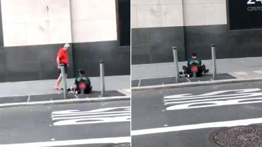 New York Jogger Walks Barefoot After Giving Away His Socks And Sneakers to Homeless Man, Earns Praises For His Kind Act (Watch Video)