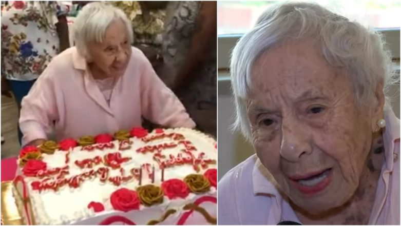 New York Woman Celebrates 107th Birthday With Friends and Family, Credits Her 'Unmarried Life' for Longevity (Watch Video)