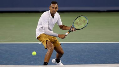 Nick Kyrgios Smashes Two Rackets After Defeat in Cincinnati Masters 2019, Australian Tennis Star Tosses His Shoes Towards Spectators