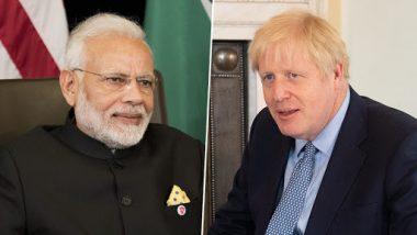 Narendra Modi Congratulates UK PM Boris Johnson, Raises Concern Over Anti-India Protests Outside Indian High Commission