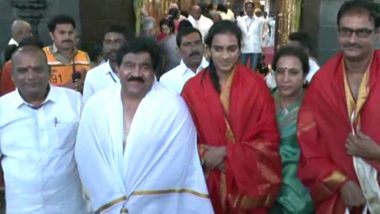 PV Sindhu Visits Lord Venkateswara Temple After Triumph in BWF World Championships 2019