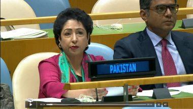 Pakistan Envoy Meets UNGA President Maria Fernanda Espinosa, Discusses Jammu and Kashmir Situation